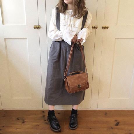 sweet waist jumper skirt (gray)