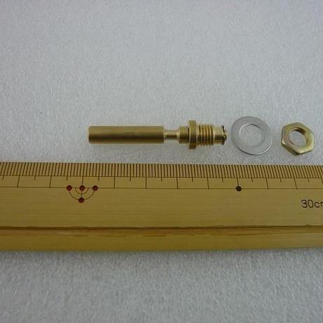 DIAL回転軸 ( 外用 ) 真空管ラジオ用 黄銅製 祐徳電子オリジナル  ( ZHW-327 )