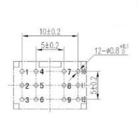 4回路2接点PUSHスイッチ  5個組 ( ZHW-354 )