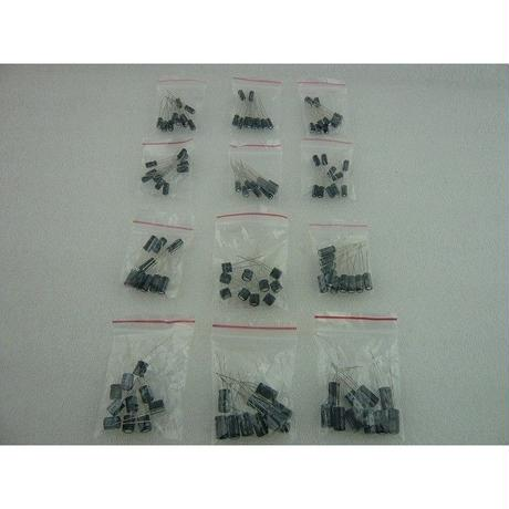 NEW  電解コンデンサセット 12種類 ( NEW Electronic Capacitors Sets 12type )