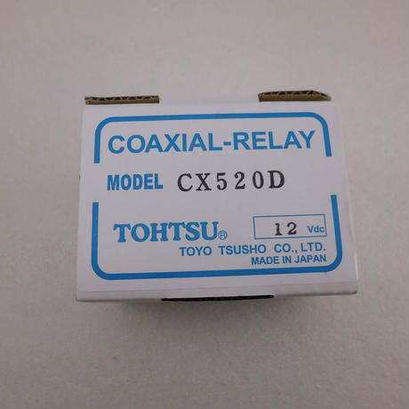 TOHTSU 同軸リレー新品 CX520D (DC~2GHz)  ( ZHW-735 )