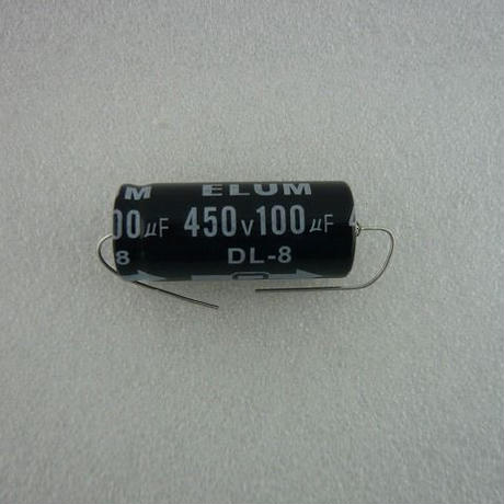 中国 ELUM社製 チューブラ電解コンデンサ  100μF / 450V