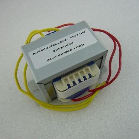 電源トランス ZHW-DB50  ( AC100V - AC200V  50VA )