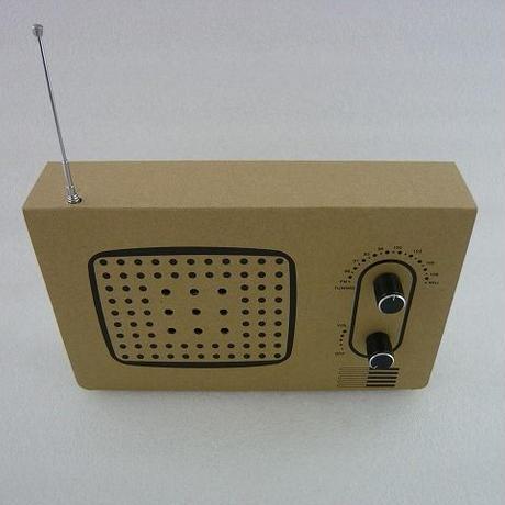ワイドFM受信可能  段ボール FM RADIO