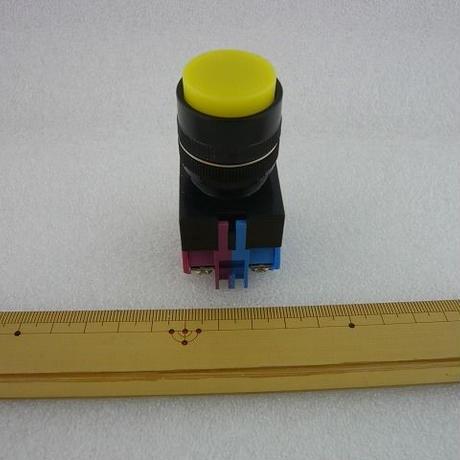 Φ22 プッシュボタンスイッチ 頭出ているTYPE 黄色  ( ZHW-439 )