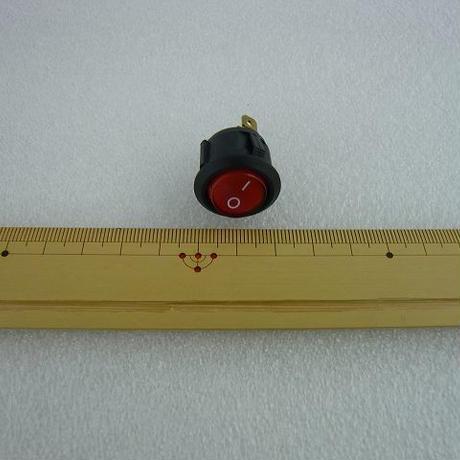 船型ロッカースイッチ 赤 ( ネオン管付 )2pcs/セット ( ZHW-101 )