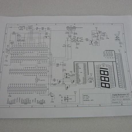 日本語詳細組立手順書付  NEW デジタルテスターキット ( ZHW-KIT-024 )