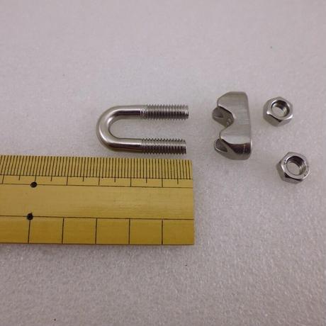 ステンレス製ワイヤークリップ  M6用  10個セット( ZHW-699 )