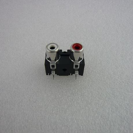 DIP TYPE 2P RCA SOCKET  ( ZHW-016 )