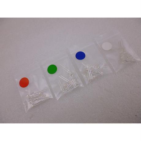 Φ3 先端FLAT LED 4種類 (合計40本)セット(赤/白/緑/青)  ( ZHW-643 )