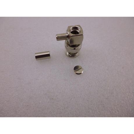 圧接(圧着)型 3D-2V / RG142 用  BNC型 同軸コネクタ スL型プラグ ( ZHW-638 )