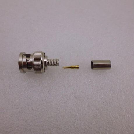 圧接(圧着)型 3D-2V / RG142 用  BNC型 同軸コネクタ ストレートプラグ ( ZHW-637 )