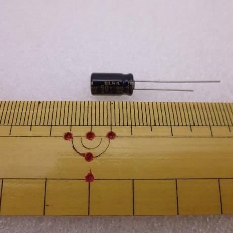 47μF / 50V  AUDIO用立形電解コンデンサ RA3 TYPEELNA製 5pcs/pack  ( ZHW-662 )