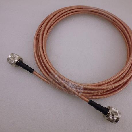 NP-NPプラグ付 ケーブル 5m 低損失テフロンケーブル RG142 ( ZHW-642 )