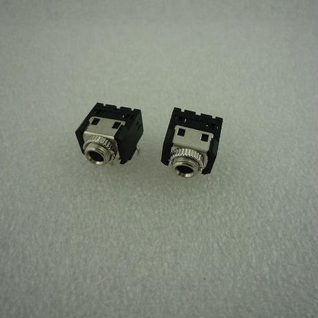 Φ3.5 STEREO MINI JACK PJ-306M 2個セット (リングナット付)