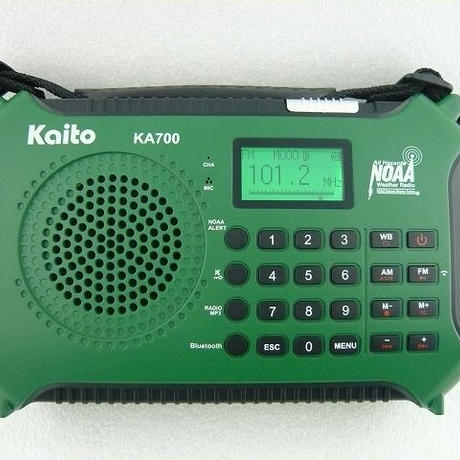 Voyager ワイドFM受信可能   FM/AM/WB RADIO  with MP3 ( ZHW-KA700-KAITO )