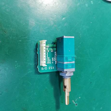 TR-751 TR-851修理用代替品( PW / VL / SQL ) SW付2連2軸ボリューム  ALPS製 ( ZHW-577 )