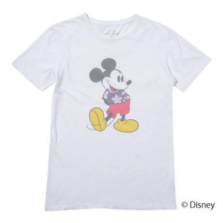<MICKEY MOUSE> ALOHA SHIRT TEE(WHITE)No.119