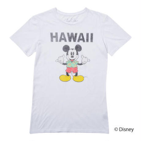 <MICKEY MOUSE> HANG LOOSE TEE   (WHITE)No.118