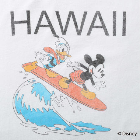 <MICKEY MOUSE & DONALD> HAWAII TEE(WHITE)No.138