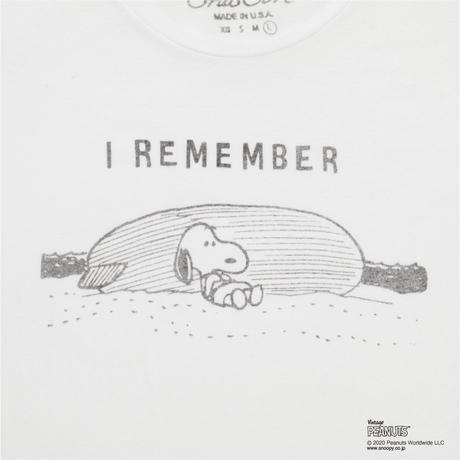 I REMEMBER snoopy(WHITE)No.154