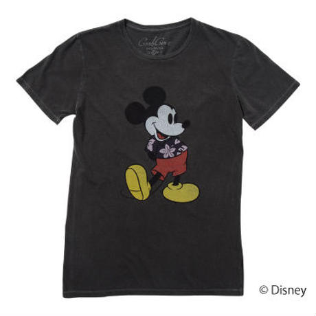 <MICKEY MOUSE> ALOHA SHIRT TEE(BLACK)No.119