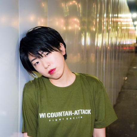 T-shirt: Wi Countah Attack (army green)