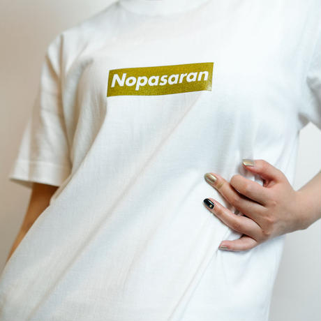 Nopasaran 2017 Gold Tag (white)