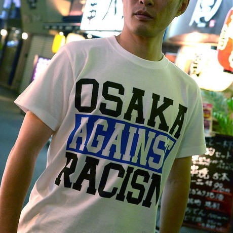 OSAKA AGAINST RACISM Tee (2013 edition blue) *仲パレカンパつき