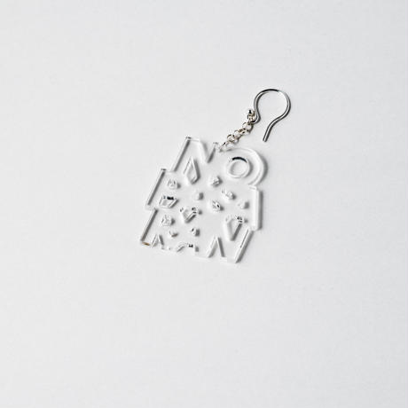 Pierced Earring: No Pasaran by Kitayama Masakazu (clear)
