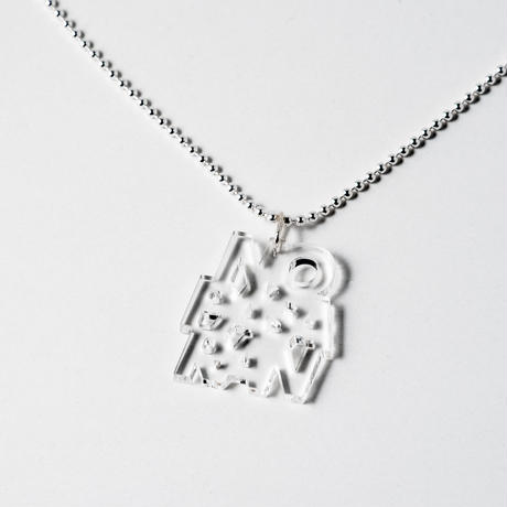 Pendant Necklace: No Pasaran by Kitayama Masakazu (clear)