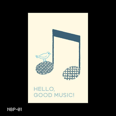 Music Bird Postcard