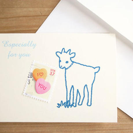 Love & Heart Stamp Greeting Card