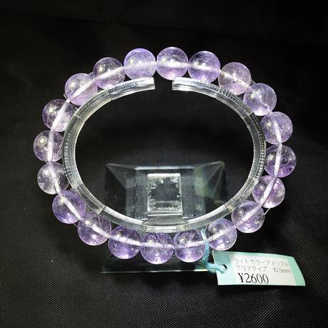 「アメジスト・ラベンダーカラー・珠径10mm・腕サイズ16/16.5cm」【特価品】人気の淡い紫色のブレスレットです♪[AC08/09]