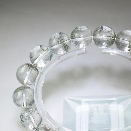 「ガーデンクォーツ・珠径11.5mm・腕サイズ17cm」キラキラと内包物が光る表情豊かなブレスレットです[AC59]