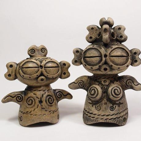「遮光器土偶(小)」オリジナルデザインでちょいと可愛らしく仕上げました。