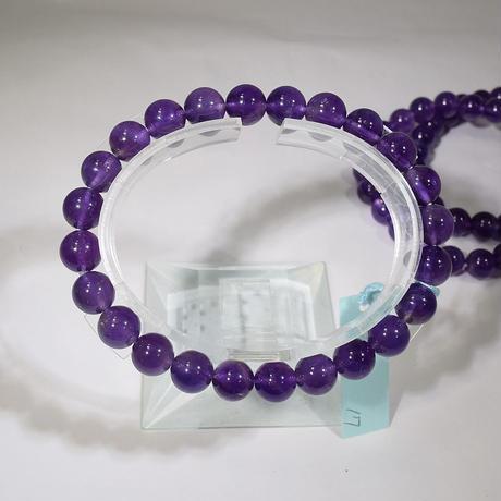 「アメジスト・珠径8mm・腕サイズ16/17cm」アメジストといえばこの色!きれいな紫です♪
