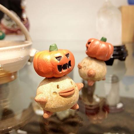 「かぼっくり君」【注文制作品】ジャックオランタンをのっけちゃった♪ハロウィン時期じゃなくてもOK♪