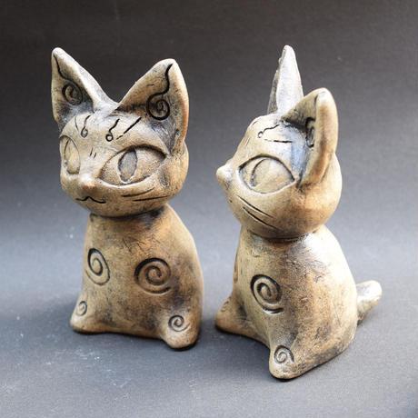 「縄文風ねこ土偶」もし縄文人が猫を作ったらこんなかな?そんな土偶です。