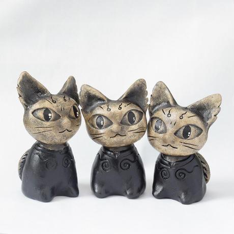 リニューアル「どんぐりと山猫」セット◆山猫1匹+どんぐり君2体◆宮沢賢治の物語からイメージしました