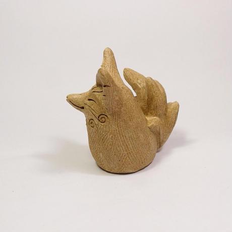 「九尾の狐さん」お稲荷さんのご眷属様。狐が神通力を得ると九尾の狐になるのだそうじゃ。