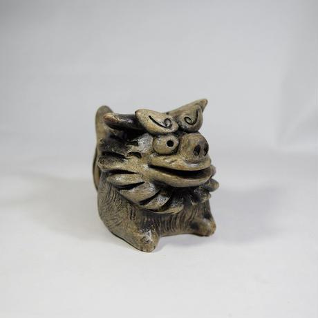「獅子(あるいは狛犬の右側の子)」【注文制作品】寺院の入り口で門番をしているあの子です