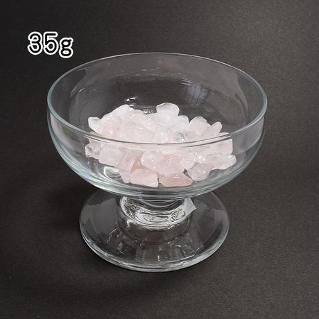 「ローズクォーツさざれ石・35g」ブレスレット置き・インテリア・アクセサリーの素材にいかが?