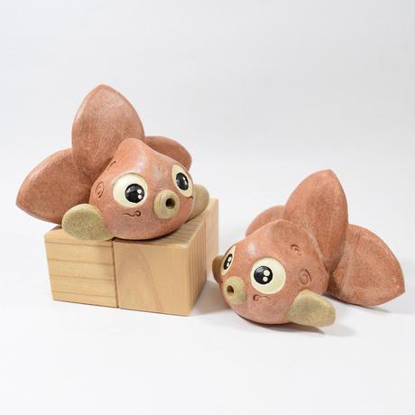 「ねぶたんぎょ君・大サイズ」【注文制作品】青森の「金魚ねぶた」をイメージした土ぼっくりです♪