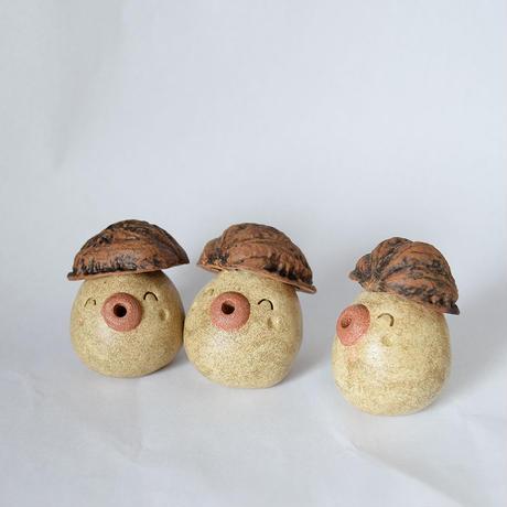 ◆「クルミぼっこ君」◆クルミの帽子をかぶった土ぼっくりの赤ちゃんかな?◆11体限定◆