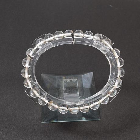 「ブルッカイトインクォーツ・珠径7mm・腕サイズ15cm」繊細な黒銀の針が美しいんです♪[AA53]