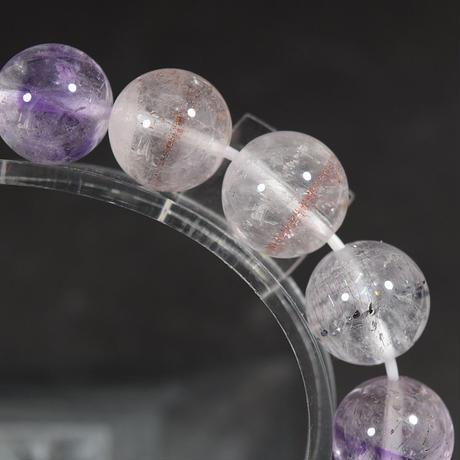 「セイクリッドセブン(スーパーセブン)・珠径10.0-10.5mm・腕サイズ16cm」アメジストの中に広がる宇宙♪ [AD95-97]