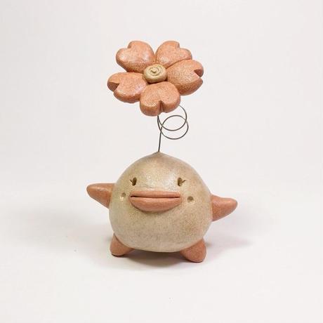 「はなまるサン」幸せ花開く、努力が実って花が咲く、的な満開土ぼっくりです♪