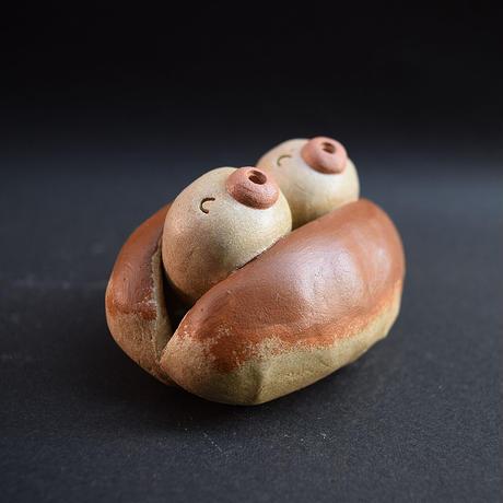 「ミニコッペパンツインズ」ミニコッペパンの妖精さんかな?パン好きさんにもぜひどうぞ♪