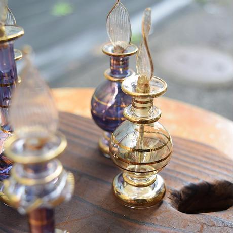 「エジプトガラス香水瓶・3本アソートセット」エジプトの伝統工芸品。3本アソートで超お買い得♪